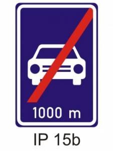 IZ 2b - silnice pro motorová vozidla - konec
