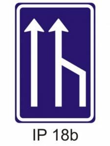 IP 18b - snížení počtu jízdních pruhů