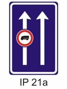 IP 21a - omezení v jízdním pruhu