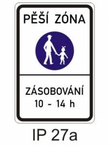 IZ 6a - pěší zóna