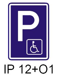 IP 12+O1 - vyhrazené parkoviště pro invalidy